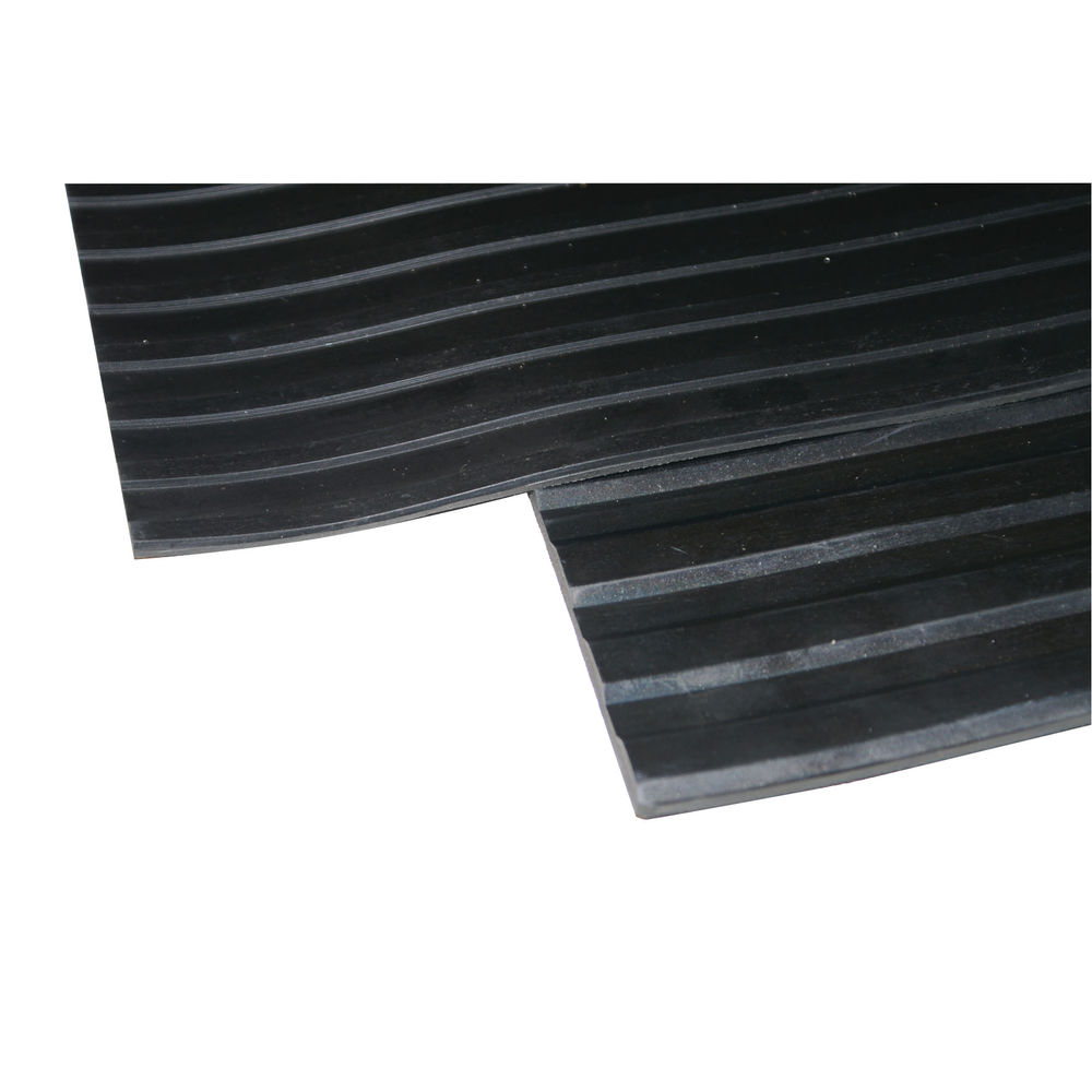 Broad Ribbed Matting 5mm 1200mm X1 Linear Metre Black 379274