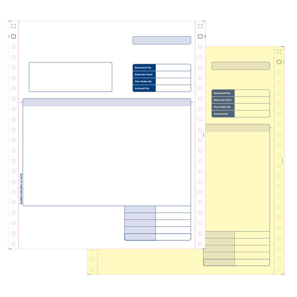 Custom Forms Sage 2-Part Dot Matrix  Invoices, Pack of 1000 - SE02
