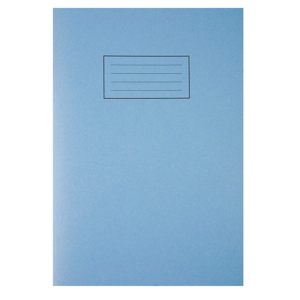 Silvine A4 Blue Exercise Book, Notebook - Pack of 10 - SV43509