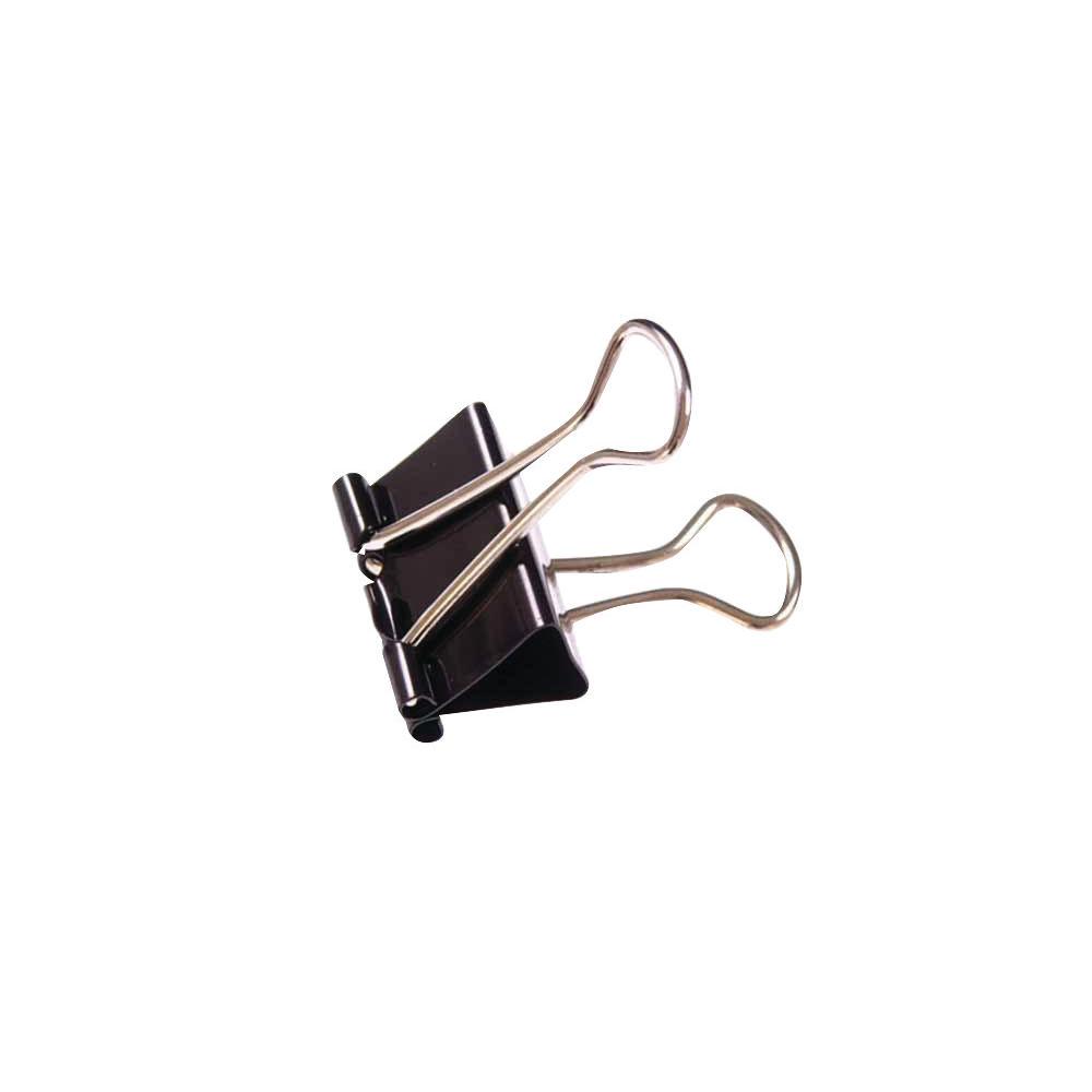 Black 19mm Foldback Clips - Pack of 100 - WS22481