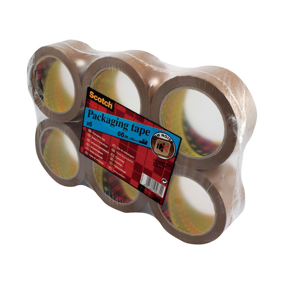 Scotch 50mm x 66m Brown Heavy Packaging Tape, Pack of 6 - PVC5066F6 B