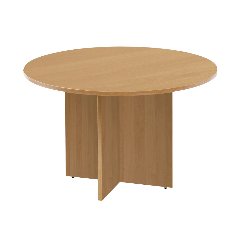 Arista 1100mm Maple Round Meeting Table