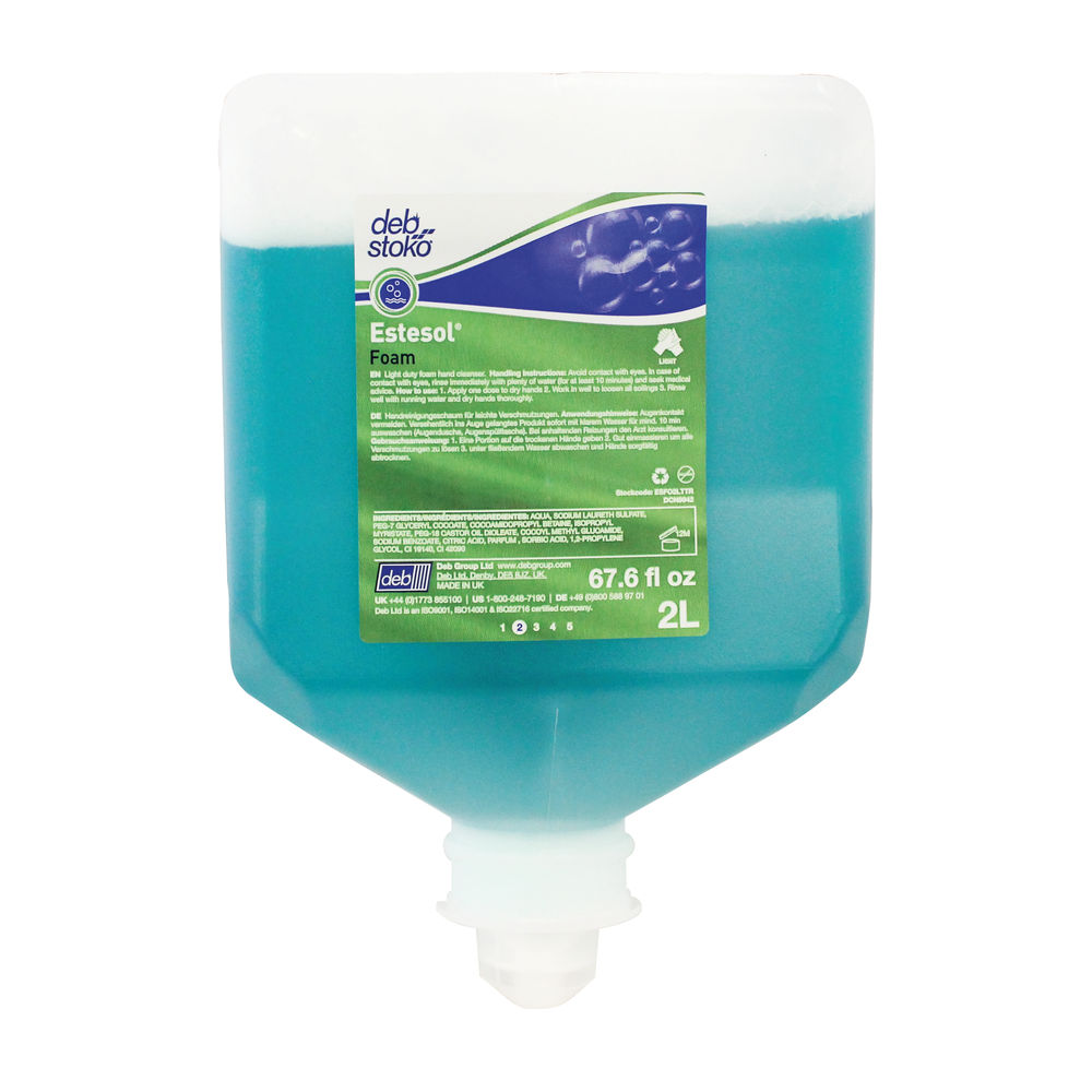 Deb Estesol FX POWER FOAM Cartridge 1 Litre (Solvent-free formula, ecolabel certified) EFM1L