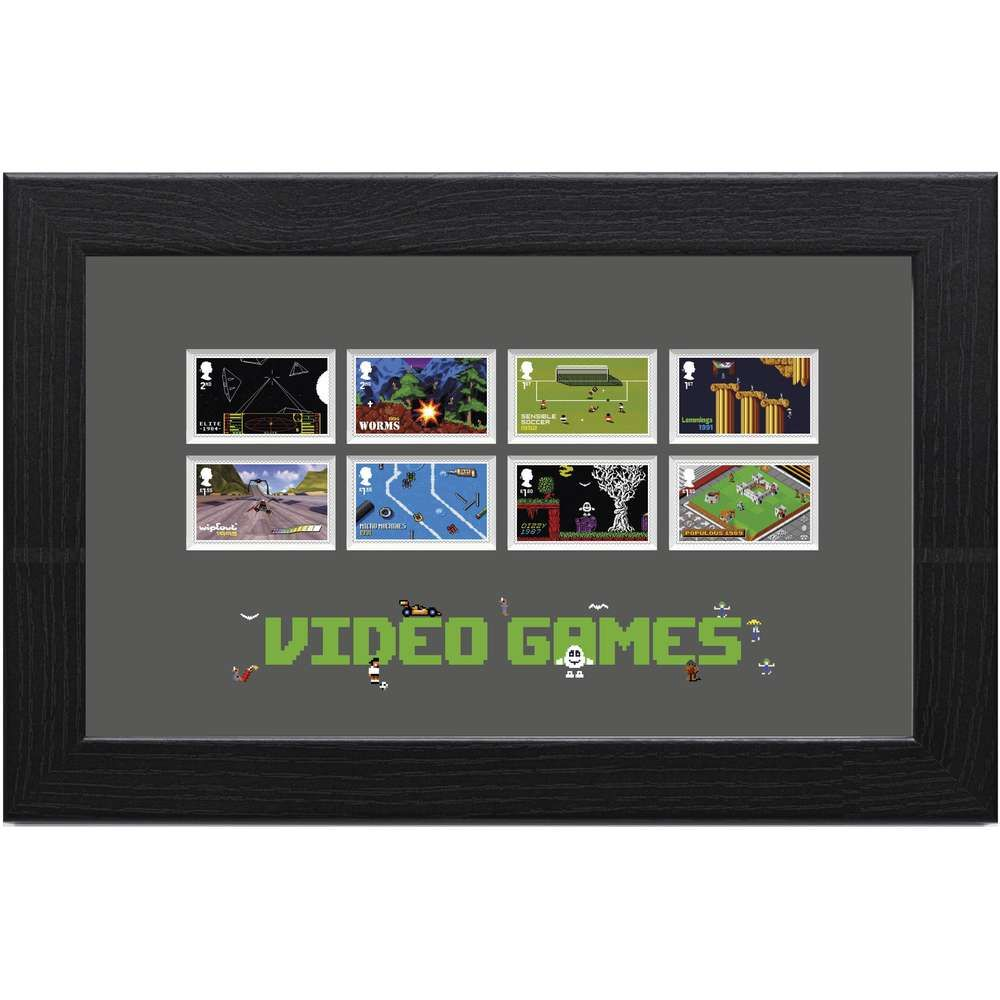 The Video Games Framed Stamp Set