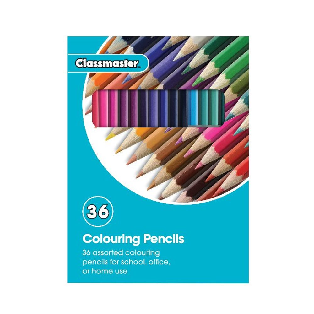 Classmaster Assorted Colouring Pencils, Pack of 36 - CPW36