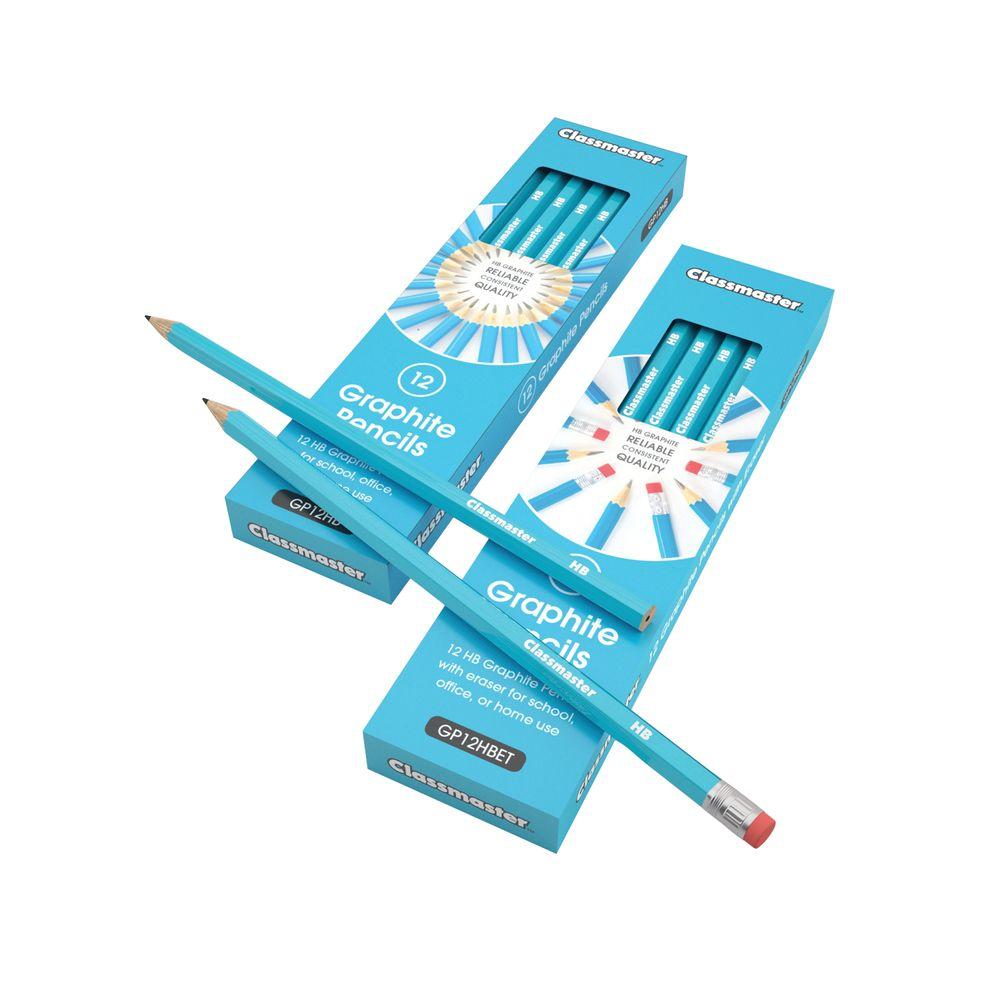 Classmaster HB Classroom Graphite Pencils, Pack of 12 - GP12HB