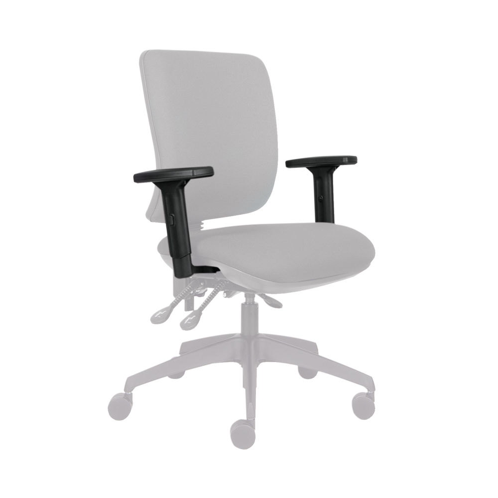Cappela Black 1D Adjustable Chair Arms, Pack of 2