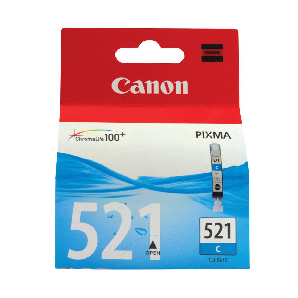 Canon CLI-521C Cyan Ink Cartridge - 2934B001