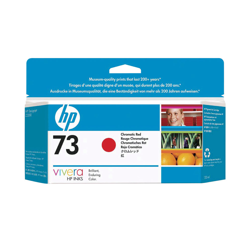 HP 73 Red Ink Cartridge - CD951A