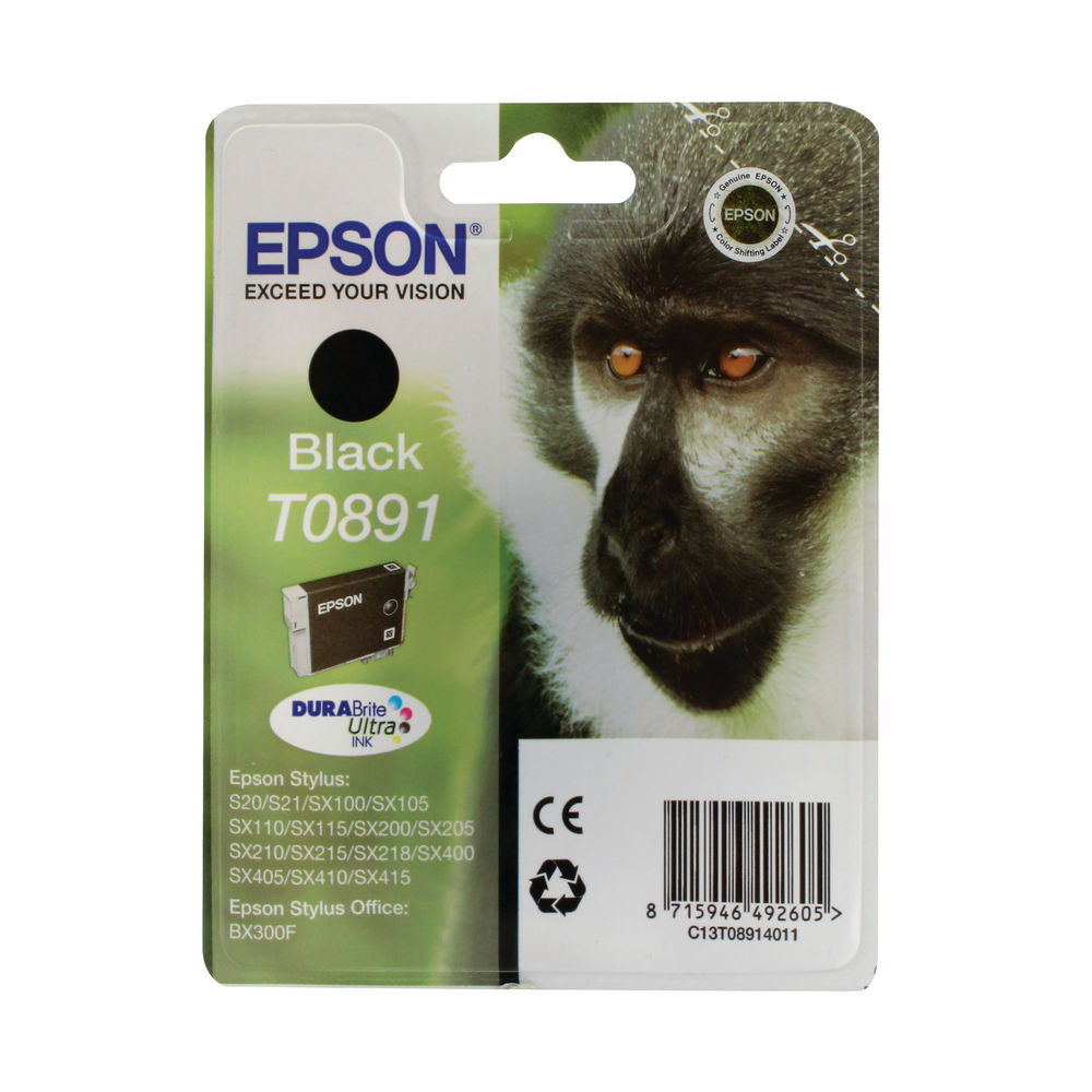 Epson T0891 Black Ink Cartridge C13T08914011 / T0891