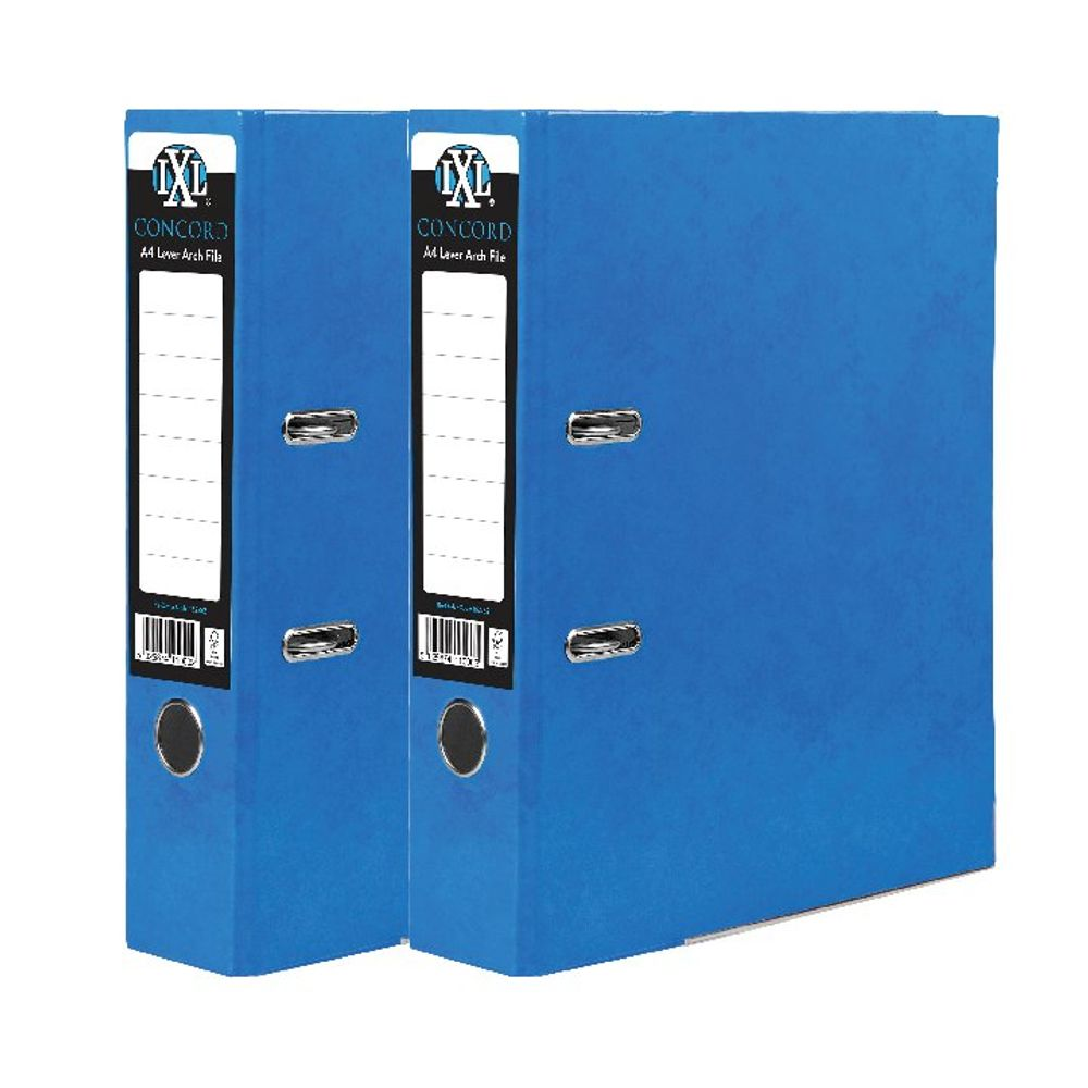 Concord IXL 70mm Selecta Lever Arch File A4 Blue (Pack of 10) BOGOF JT816017