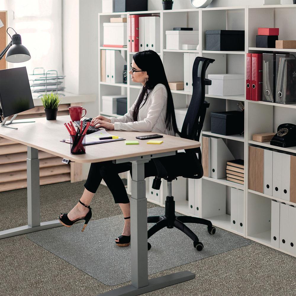 Floortex 1520 x 1210mm Rectangular Carpet Chair Mat - 1115223ER