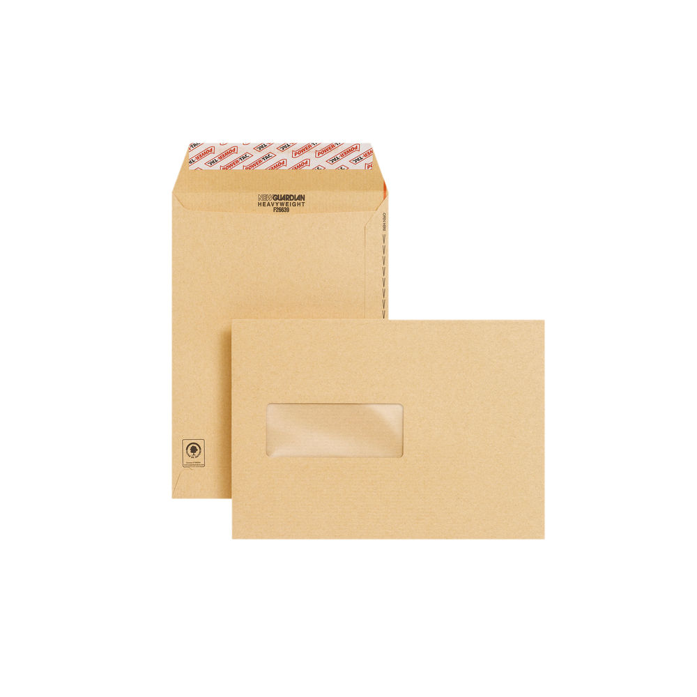 New Guardian C5 Envelope Window Peel/Seal Manilla (Pack of 250) F26639
