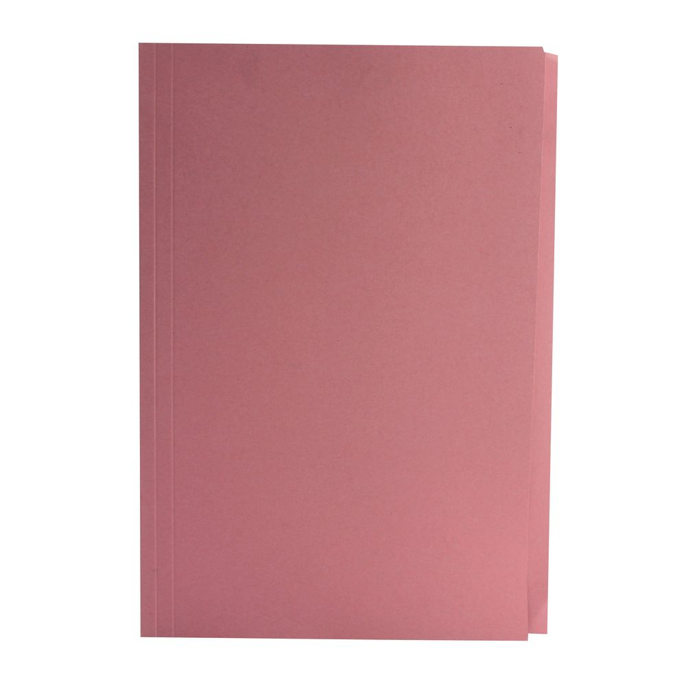 Guildhall Foolscap/A4 Square Cut Pink Folders 270gsm - Pack of 100 - 43207