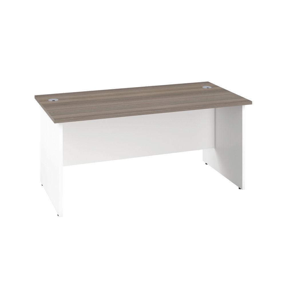 Jemini 1600mm Grey Oak/White Rectangular Panel End Desk
