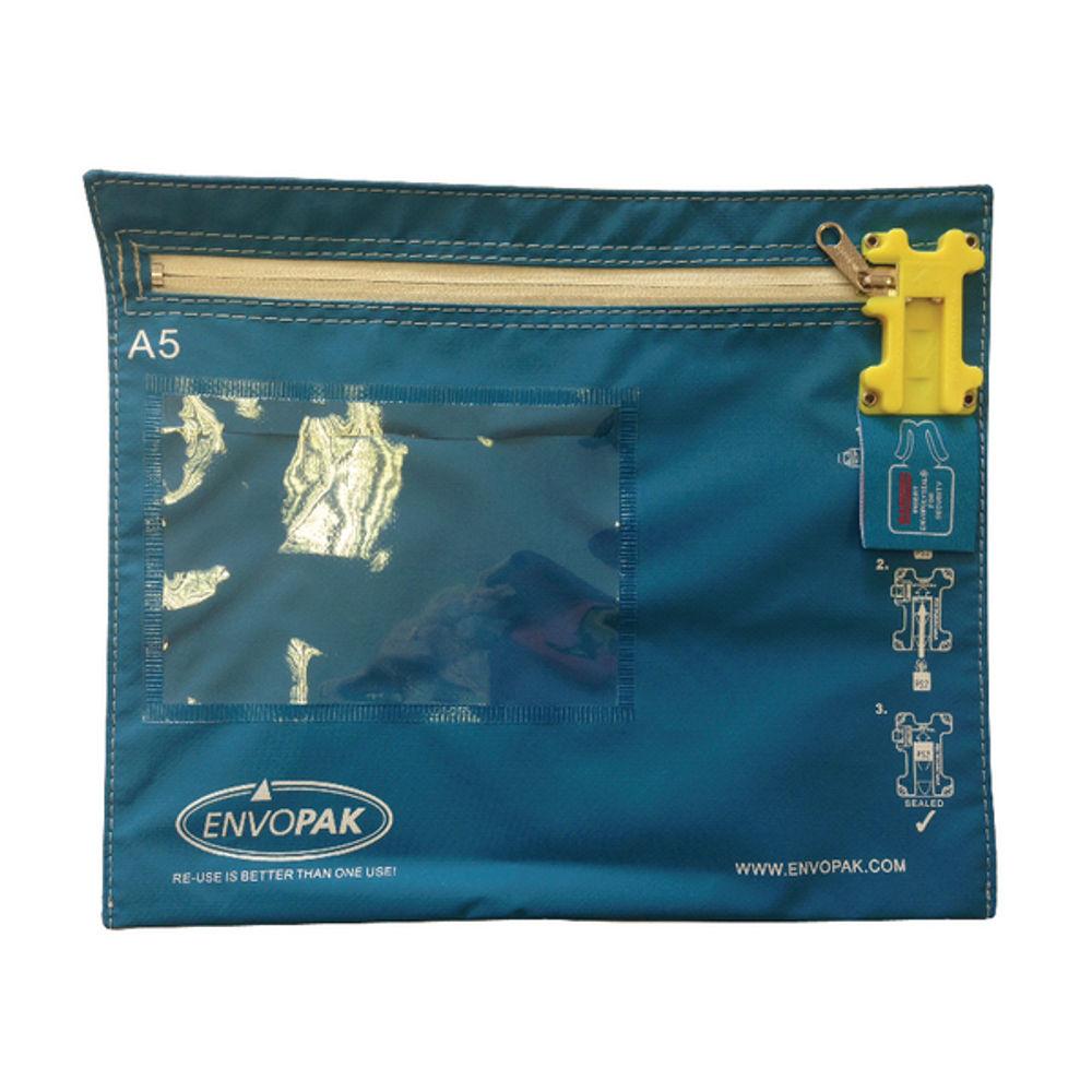 Envopak A5 Modular Blue FLAT Cash Bag