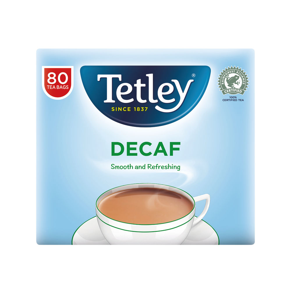 Tetley Decaffeinated Tea Bag (Pack of 80)