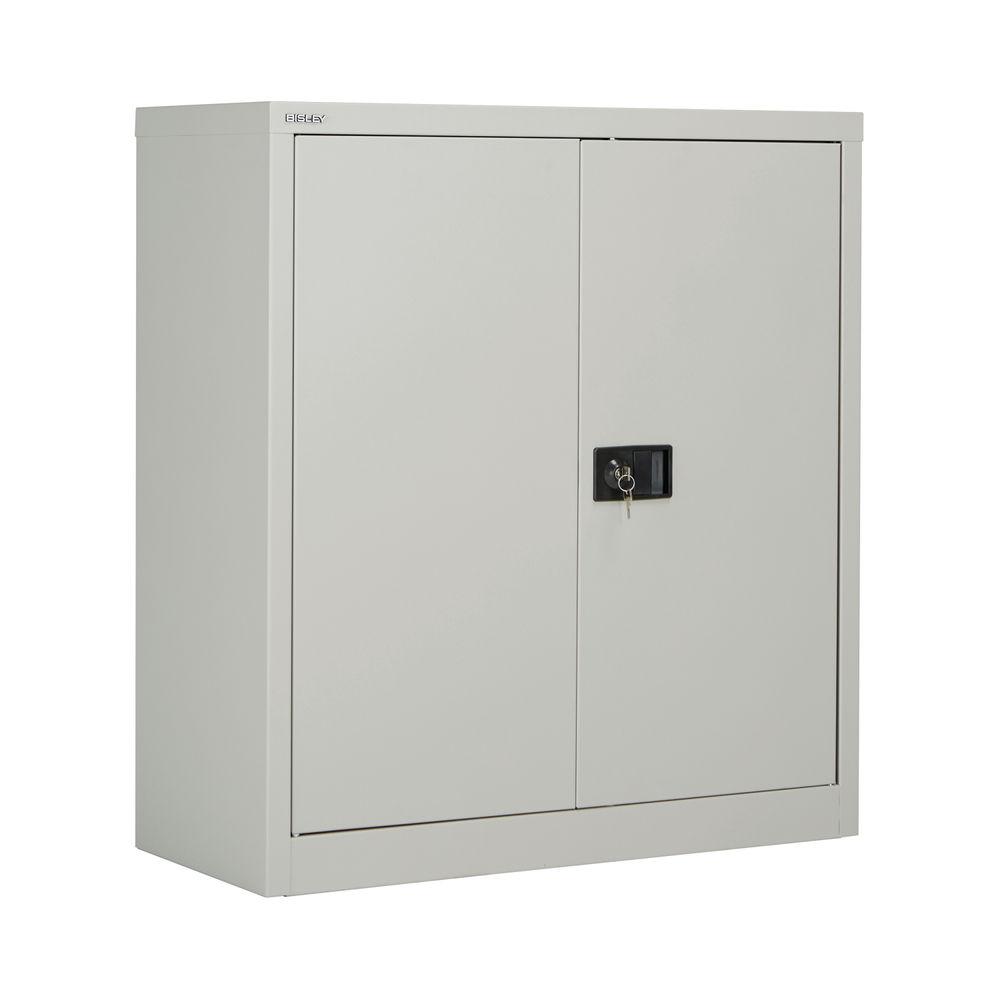 Jemini 1000mm Grey 2 Door Stationery Cupboard
