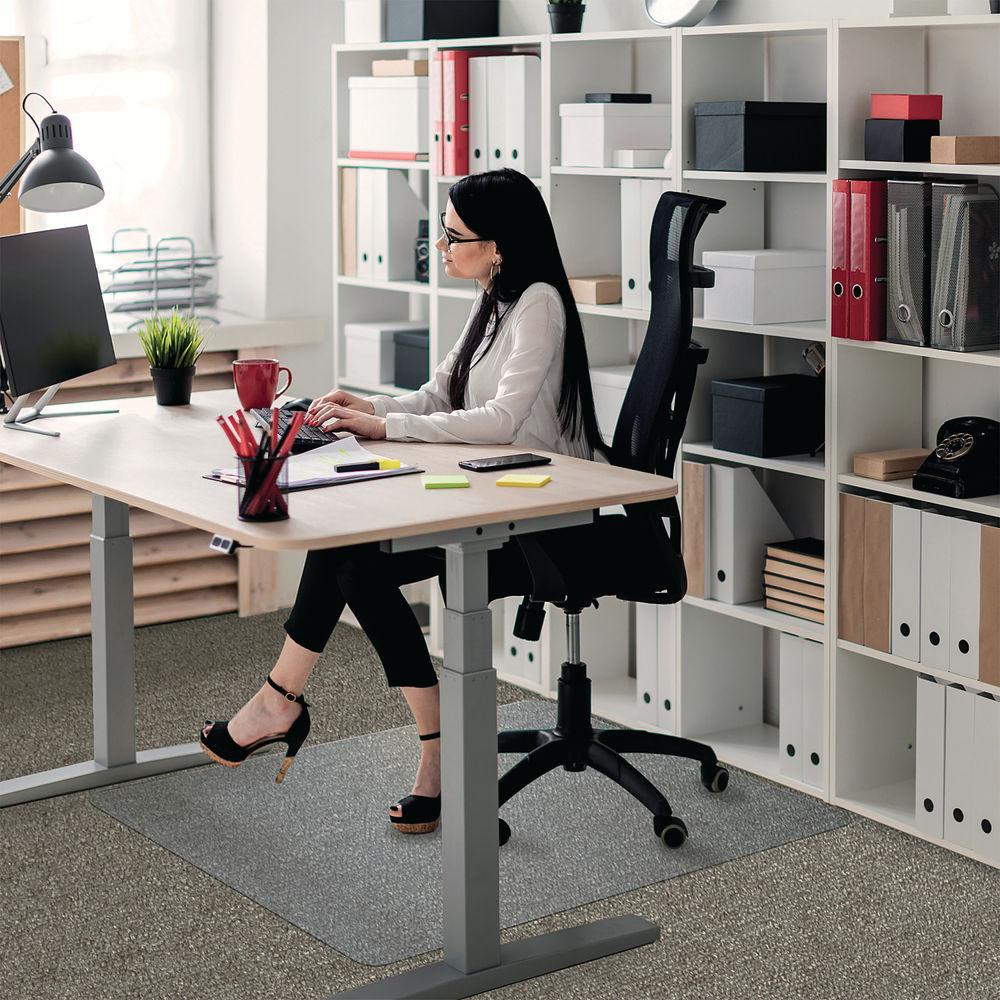 Floortex 1190 x 890mm Rectangular Carpet Chair Mat - 118923ER