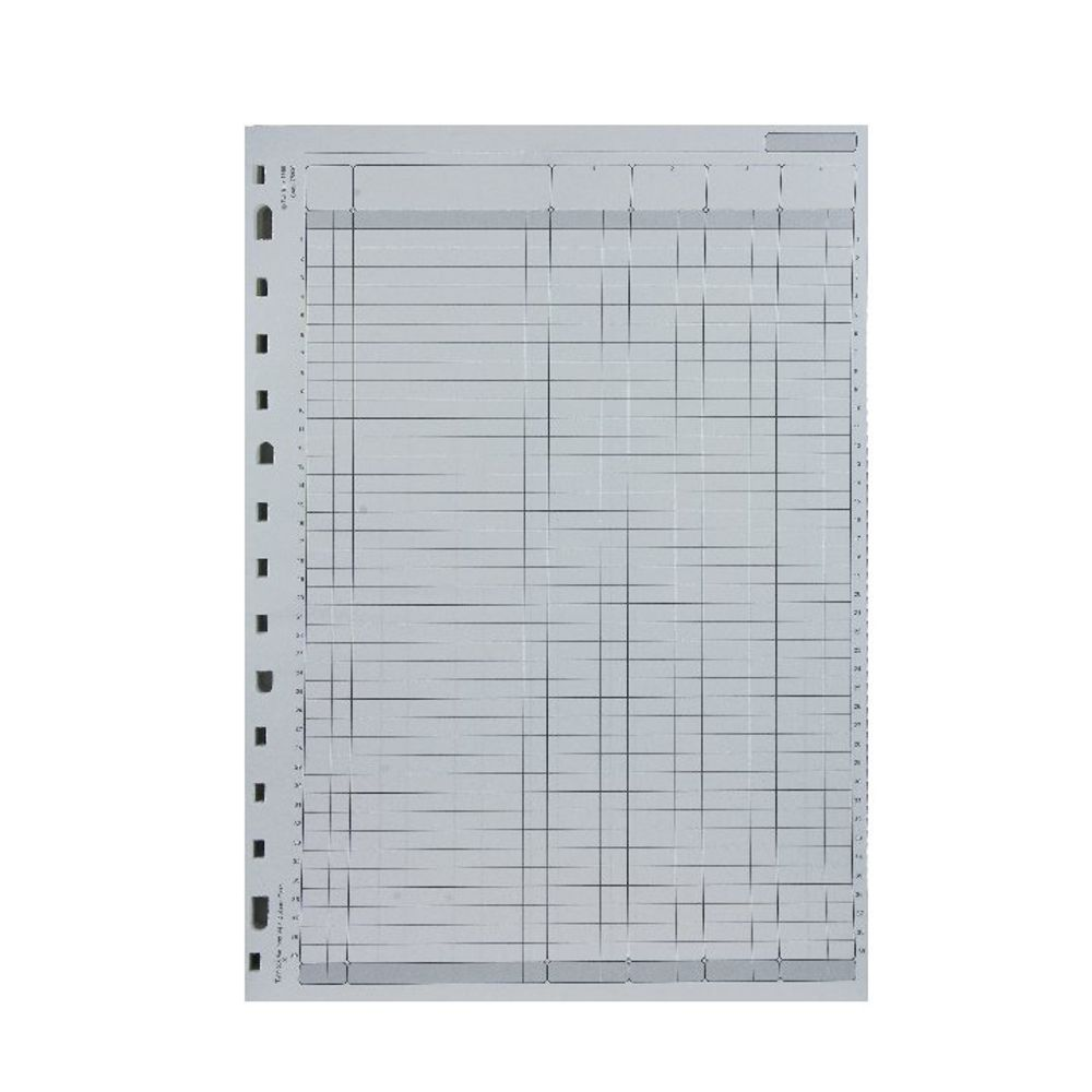 Rexel Twinlock Variform V4 Refills, 4 Cash Columns (Pack of 75) - 75930