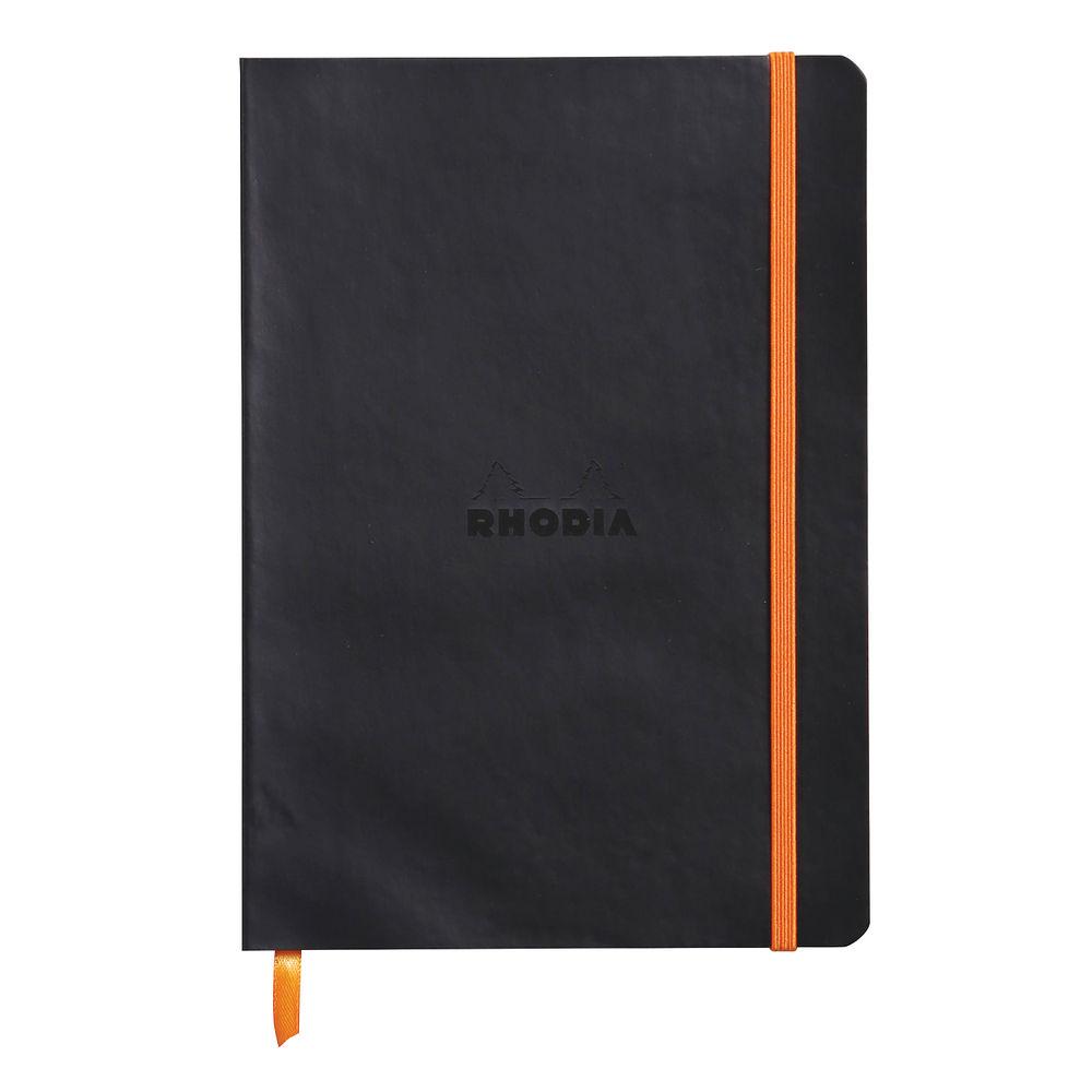 Rhodiarama Black A5 Soft Notebook - 117402C