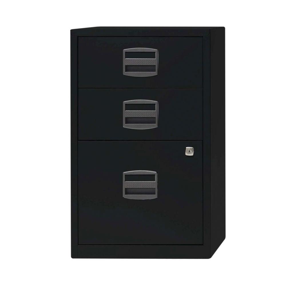 Bisley 672mm Black Home 3 Drawer Filing Cabinet - PFA3-93