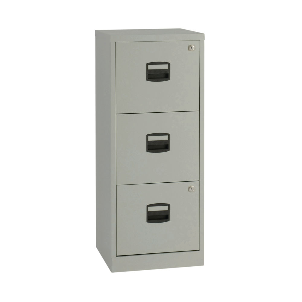 Bisley 1015mm Grey Home 3 Drawer Filing Cabinet - BY60794