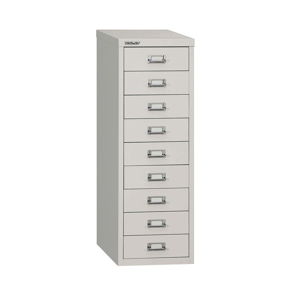 Bisley 860mm A4 Grey 9 Drawer Filing Cabinet - H399NL-073