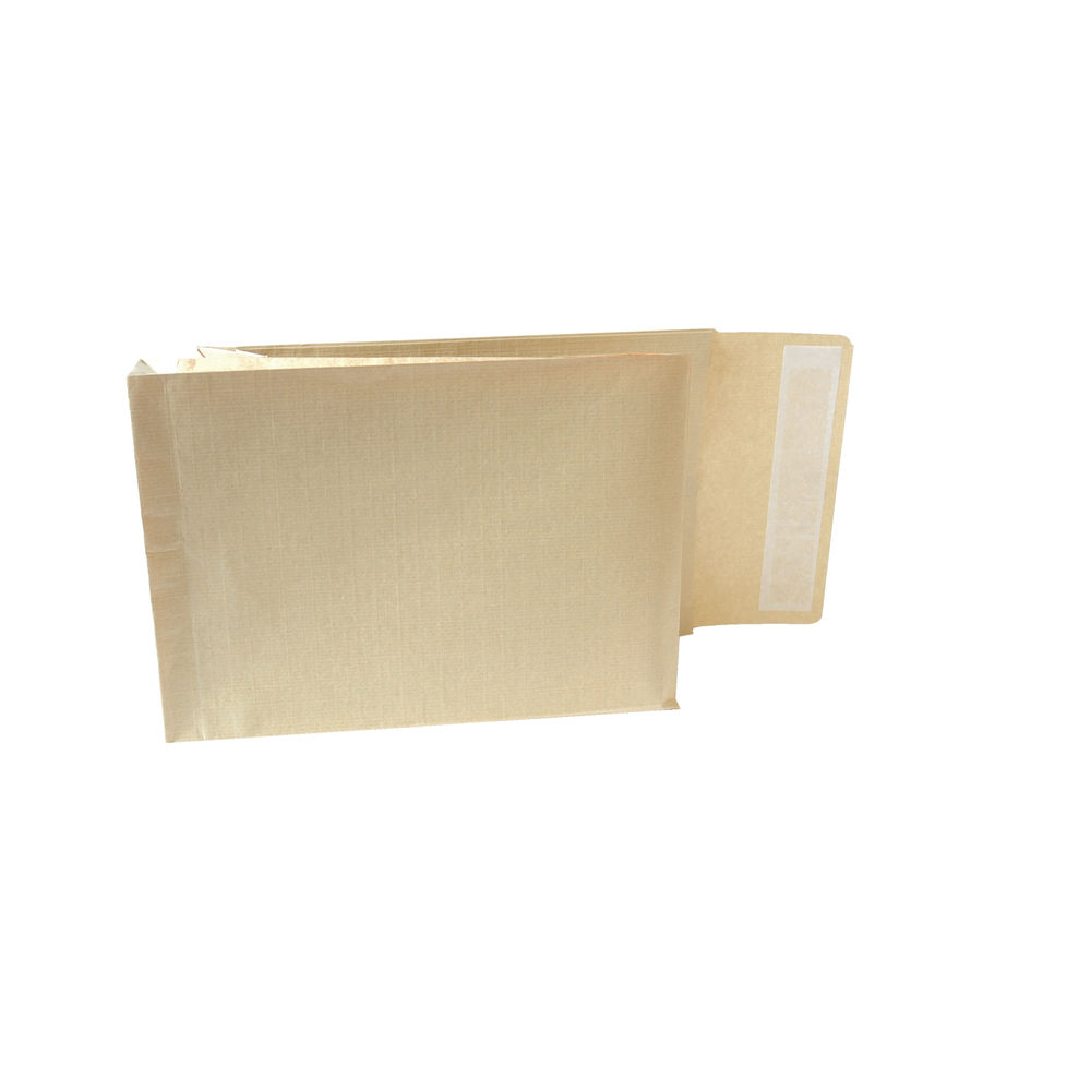 New Guardian Armour Manilla Self Seal Gusset C4 Envelopes 130gsm (Pk100)  A28113