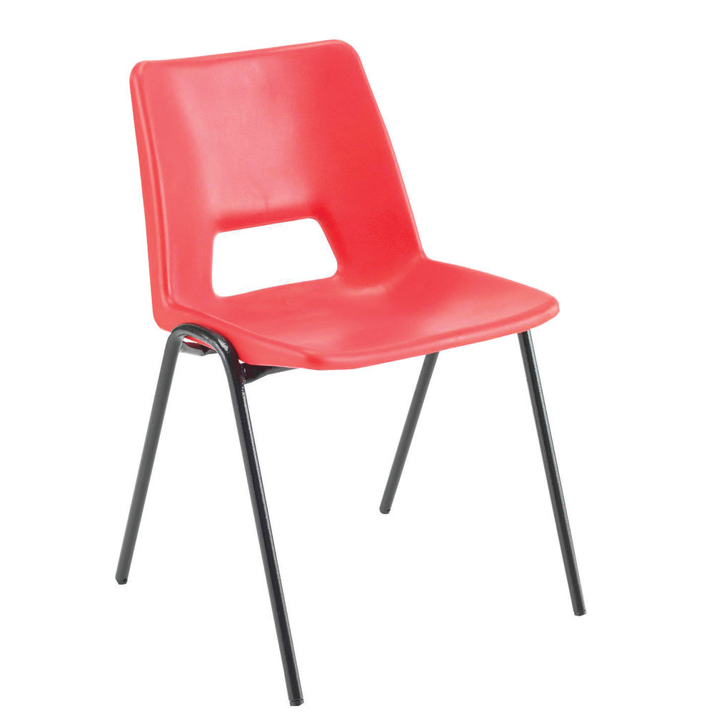 Jemini Red Polypropylene Stacking Chair