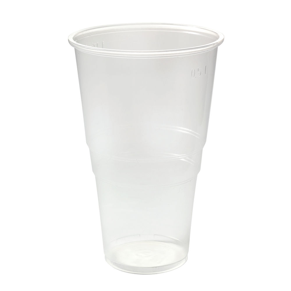 Clear Plastic Pint Glasses, Pack of 50 - 0510043