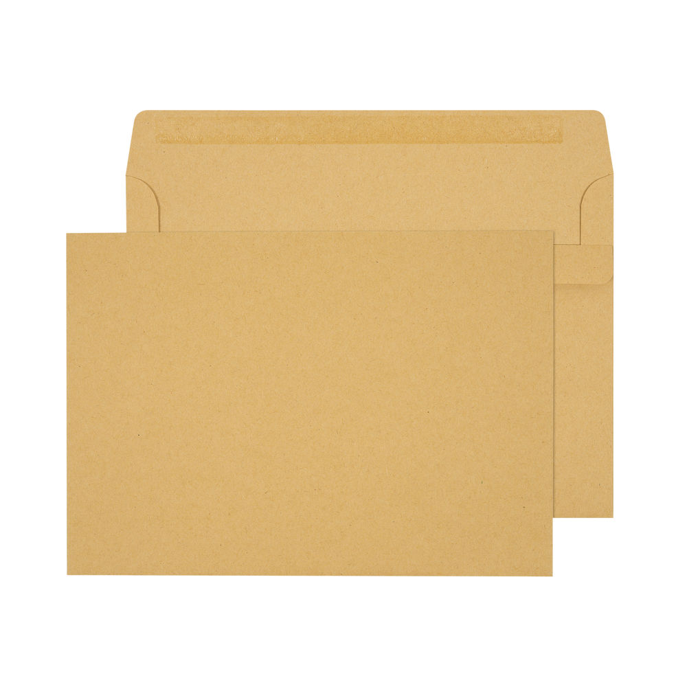 Q-Connect Manilla C5 Self Seal Pocket Envelopes 90gsm, Pack of 500 - X1074/01
