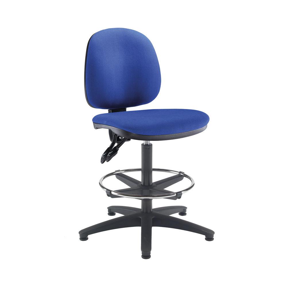 Arista Blue Adjustable Foot Rest Draughtsman Chair
