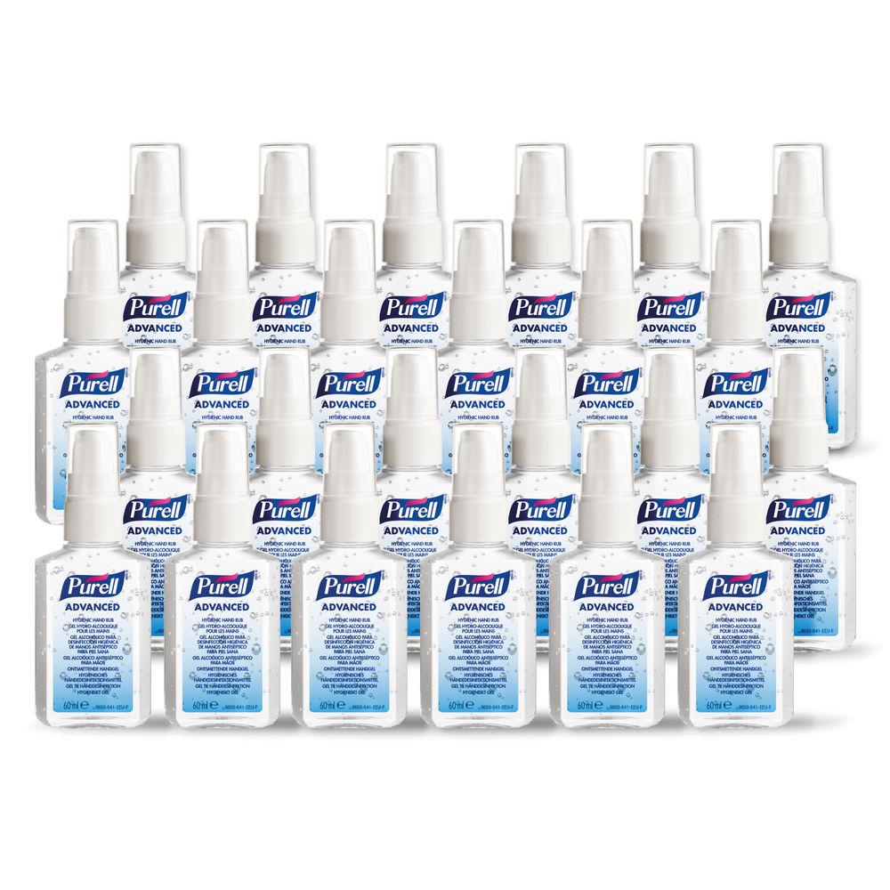 Purell PERSONAL 60ml Advanced Hygienic Hand Rubs, Pack of 24 - 9606-24-EEU00