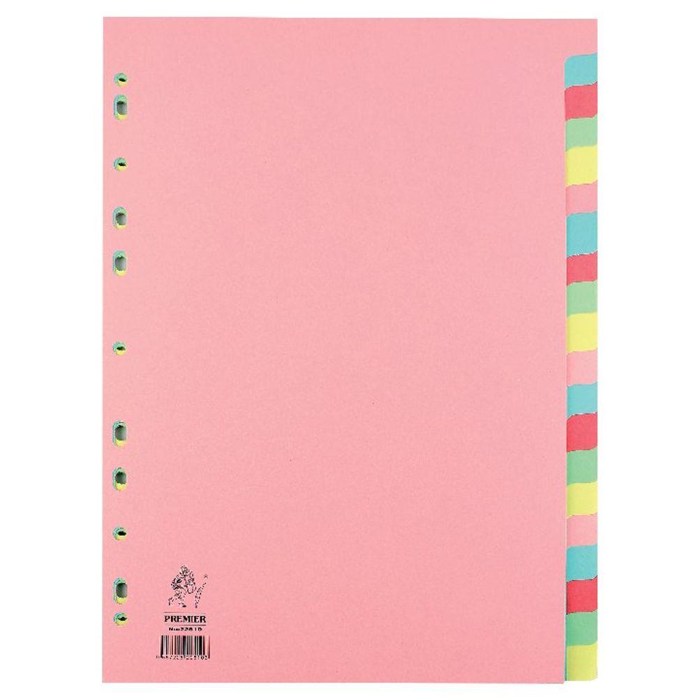 A4 Manilla 20-Part Pink Divider - WX01517