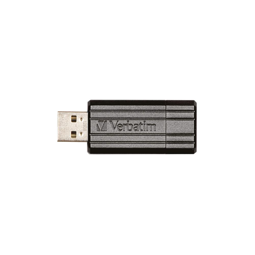 Verbatim Black PinStripe 128GB Flash Drive USB 2.0 - 49071