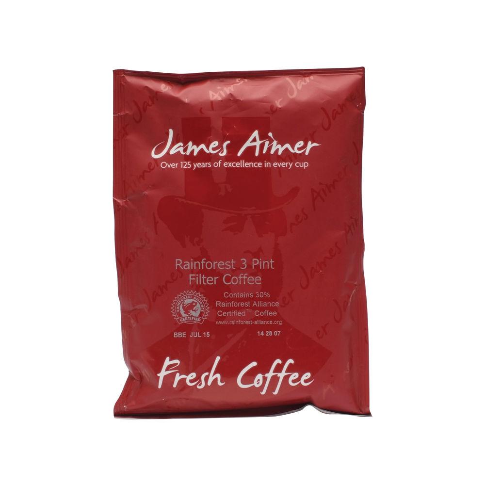 James Aimer 3 Pint 50g Sachet Medium Roast Filter Coffee, Pack of 50 - JA452