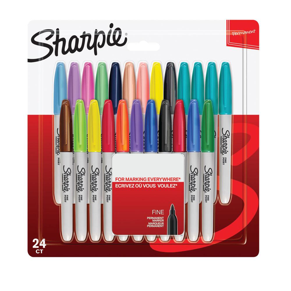 Sharpie Color Burst Fine Permanent Markers, Pack of 24 - S0944841