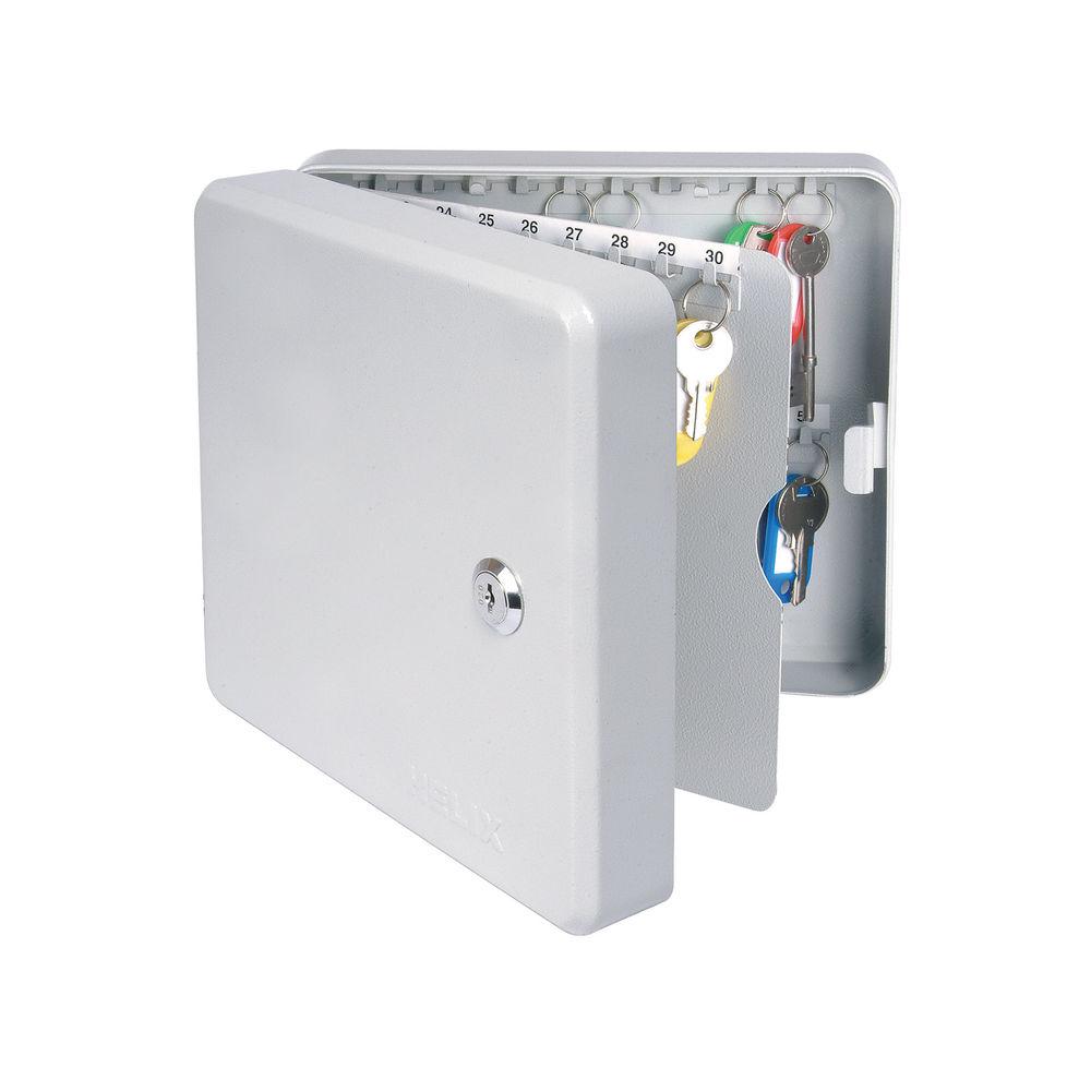 Helix Standard Grey Steel Key Safe - 275 x 275 x 80mm -  HX32883