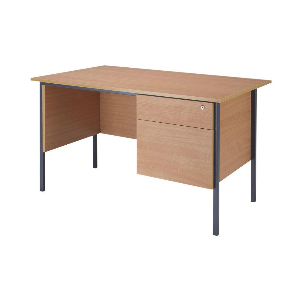 Serrion 1200mm Bavarian Beech 2 Drawer Pedestal 4 Leg Desk
