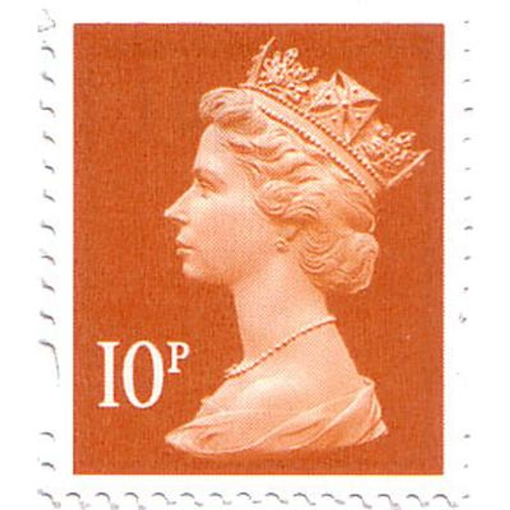 Royal Mail 10p Postage Stamps x 25 Pack (Self Adhesive Stamp Sheet) P10