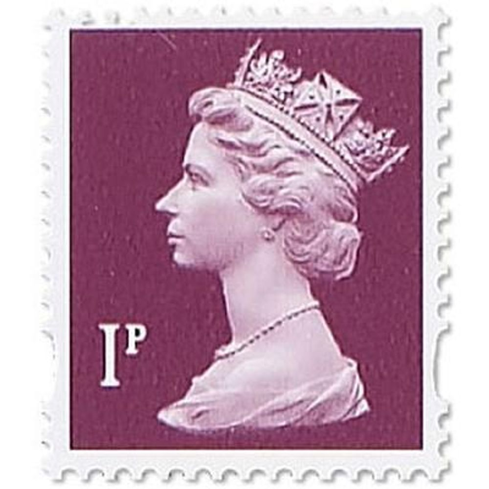 Royal Mail 1p Postage Stamps x 25 Pack (Self Adhesive Stamp Sheet) P1