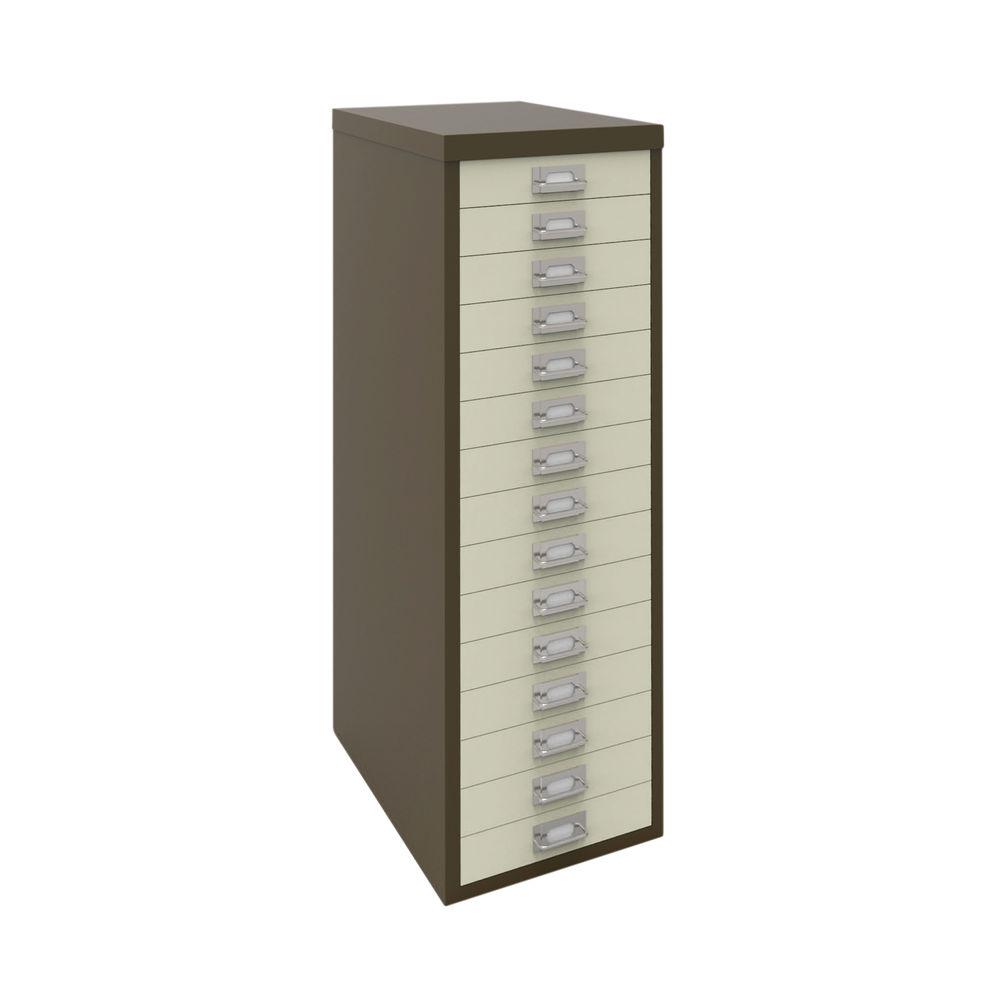 Bisley A4 Coffee/Cream 15 Drawer Filing Cabinet - H3915NL-005006