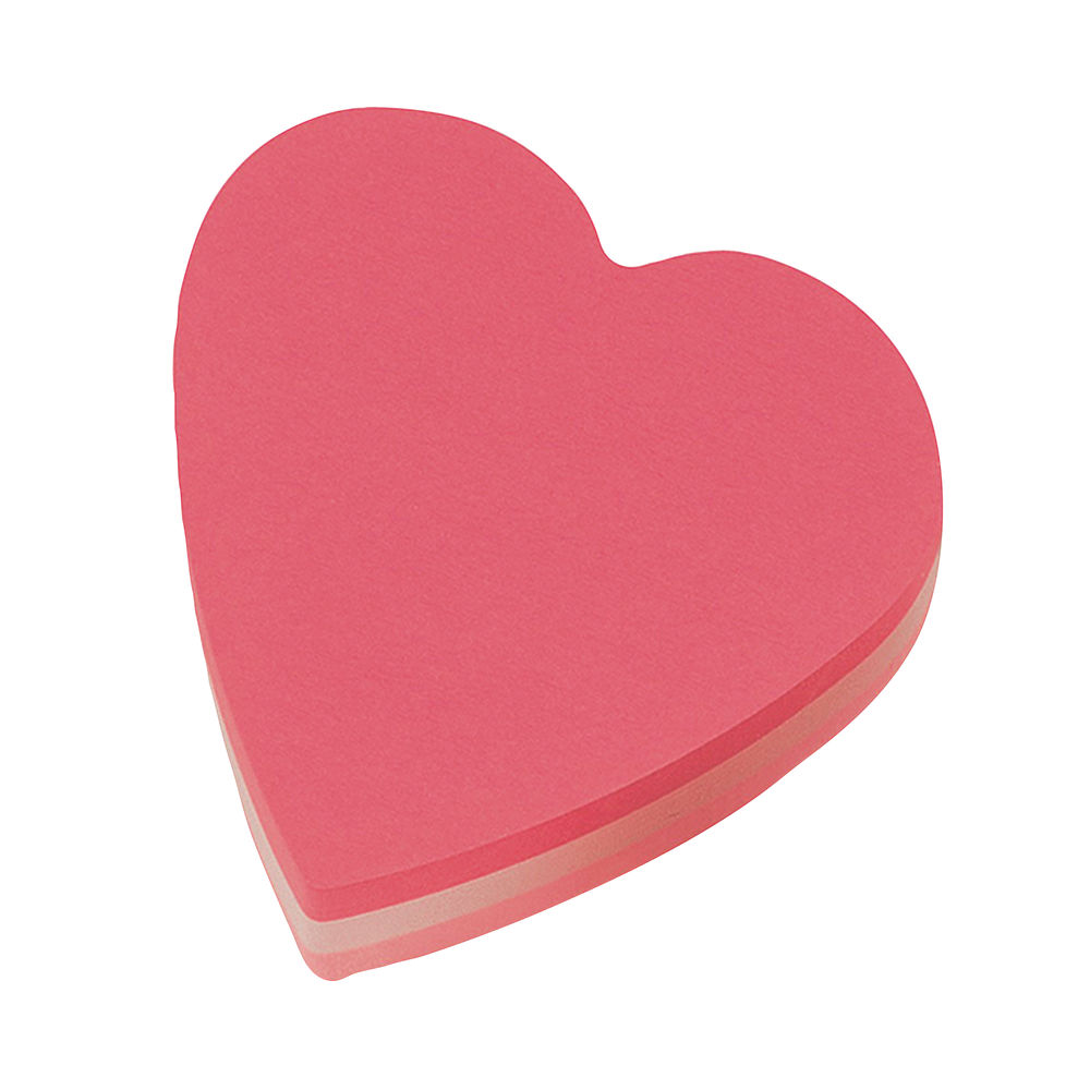 Post-it Notes 70 x 70mm Heart Pink (Pack of 12) 2007H