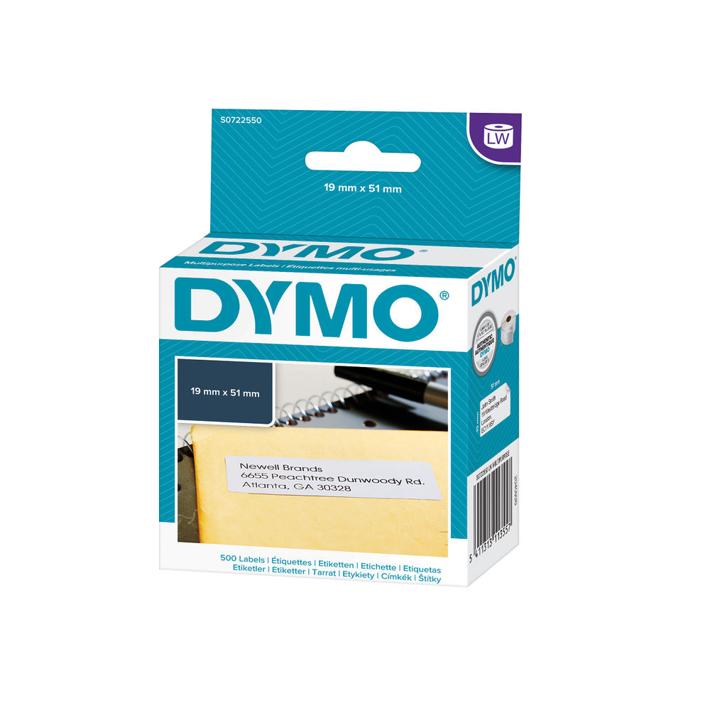 Dymo LabelWriter Multi-Purpose Labels, Pack of 500 - S0722550