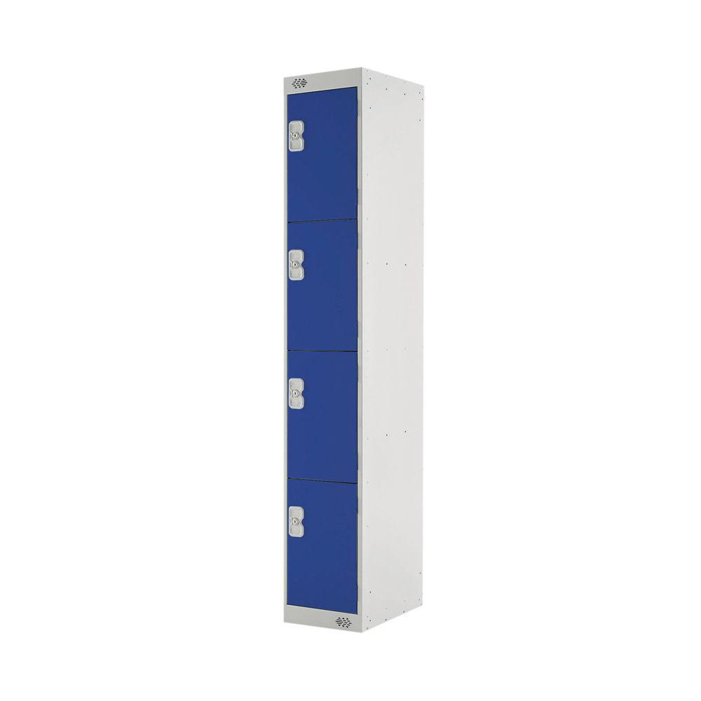 Four Compartment D450mm Blue Express Standard Locker - MC00160