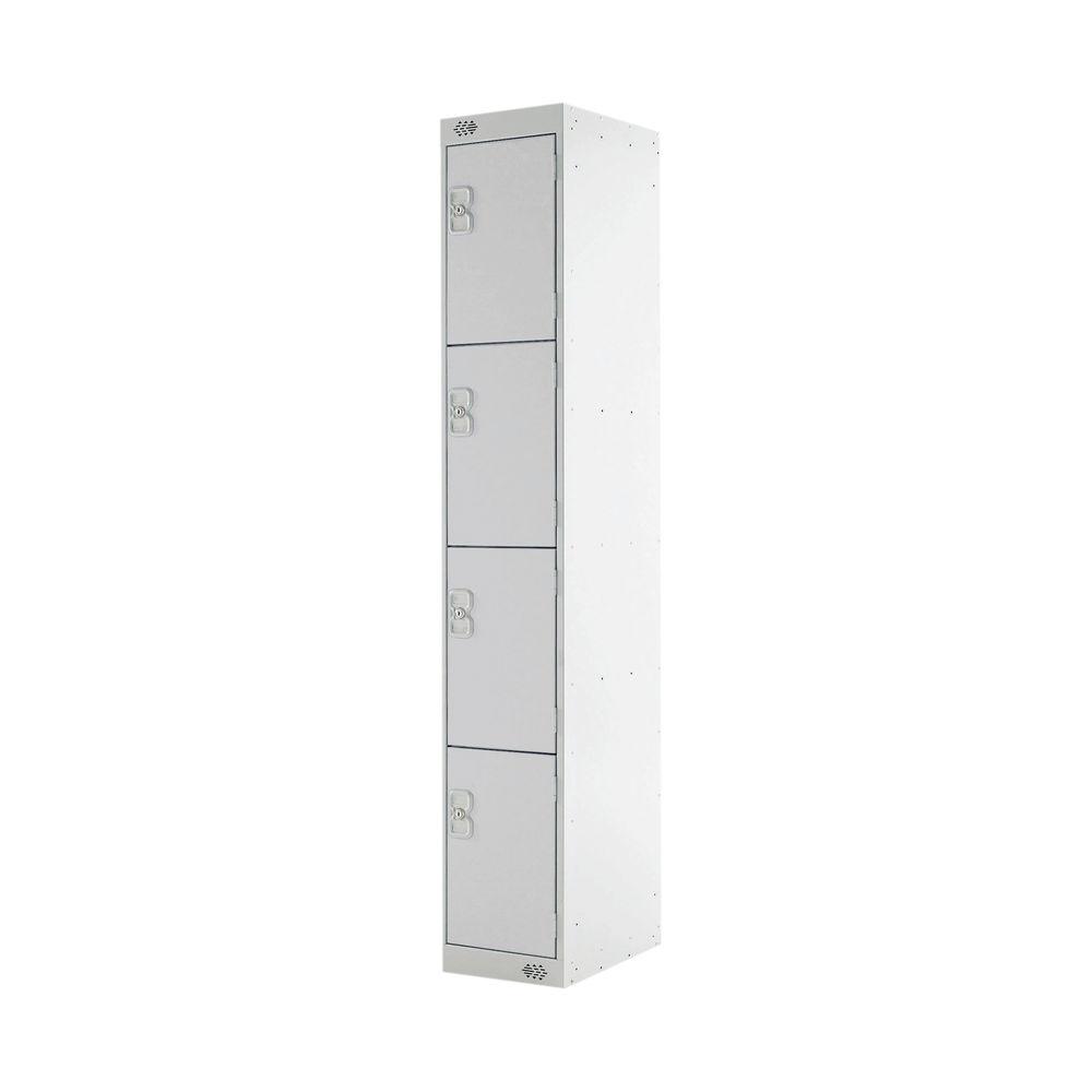 Four Compartment D450mm Grey Express Standard Locker - MC00161
