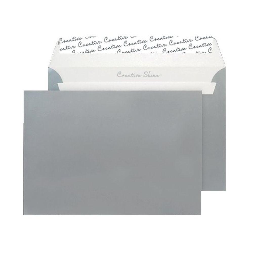 Blake Metallic Silver C5 Peel and Seal Envelopes 130gsm, Pack of 250 - BLK93028