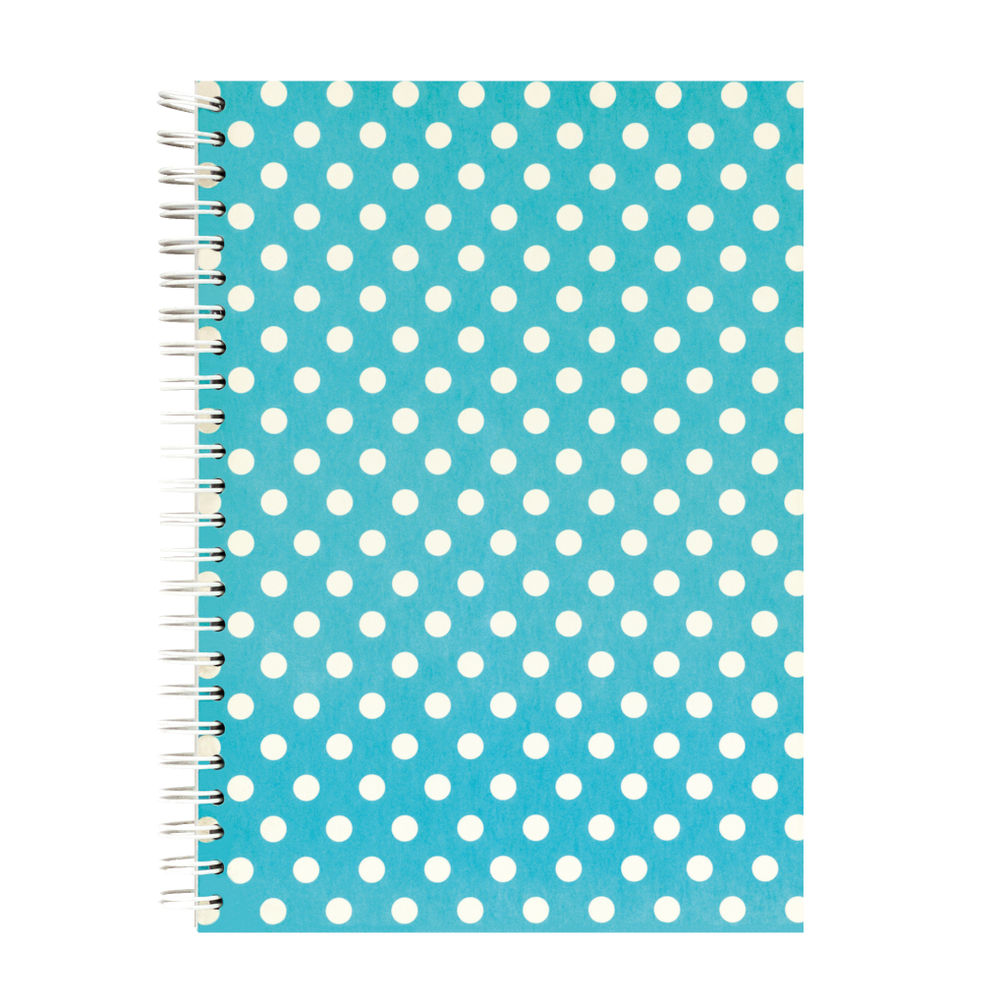 Go Stationery A5 Teal Polka Notebook | 5NC403