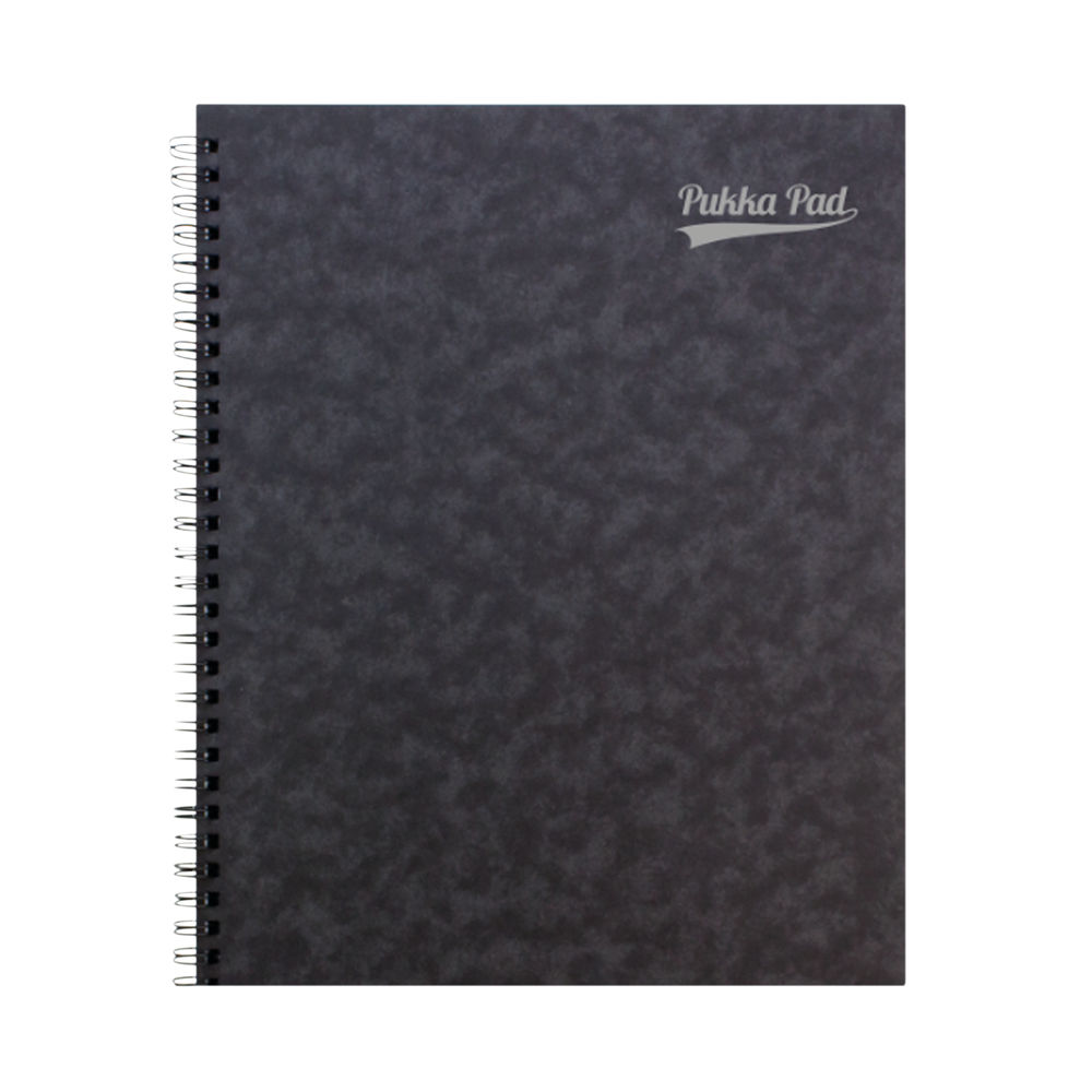 Pukka Notemakers Sidebound A4 Black (Pack of 10) 7277-PRS